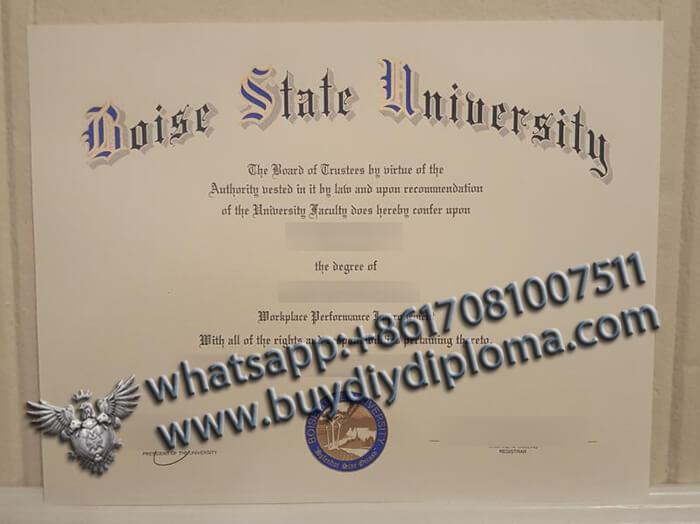 Boise State University degree