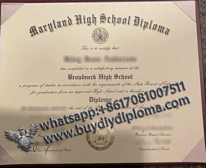 Broadneck High School degree