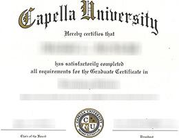 Capella University certificate