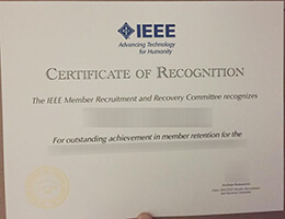 Institute of Electrical and Electronics Engineers certificate
