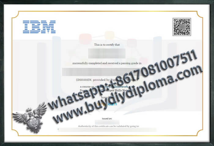 International Business Machines Corporation (IBM) certificate