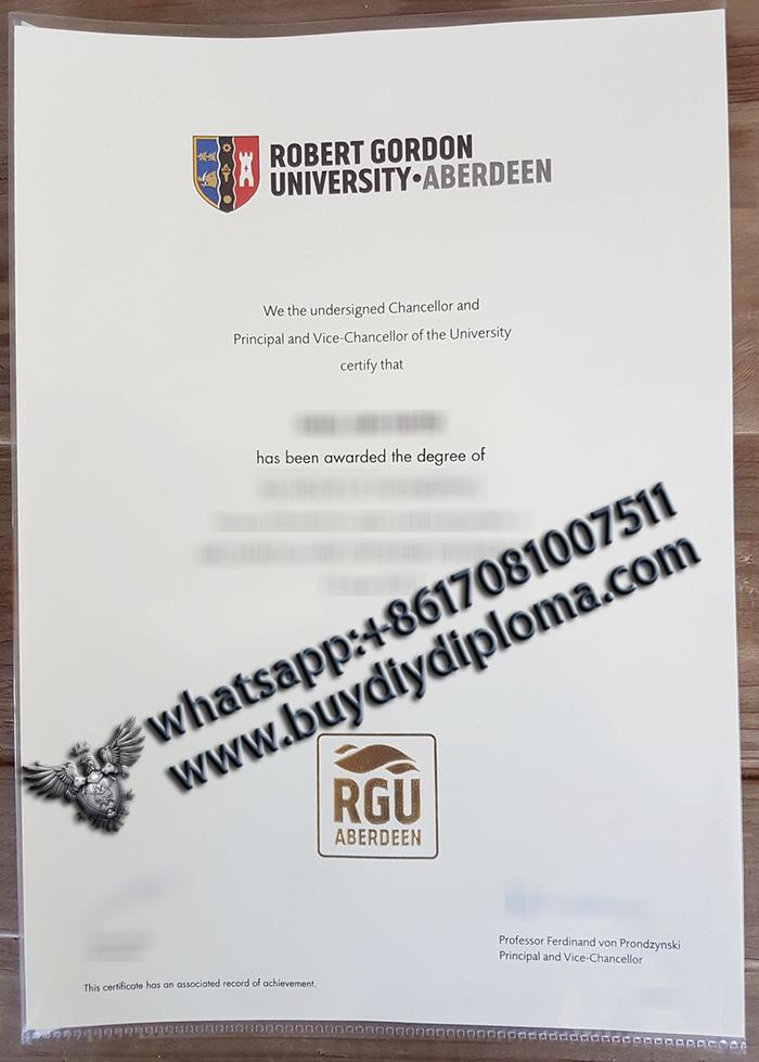 RGU Diploma