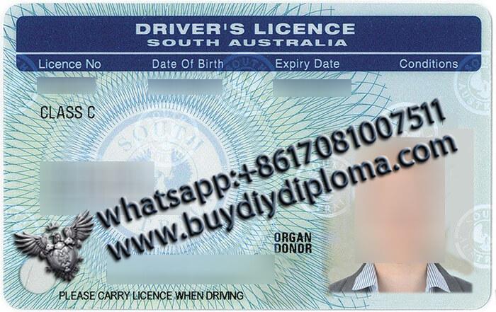 South Australia Scannable Drivers-License