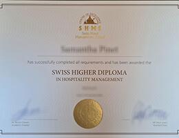Swiss Hotel Management School diploma