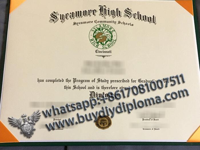 Sycamore High School (Cincinnati, Ohio) certificate