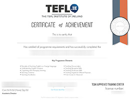 Teaching English as a second or foreign language certificate
