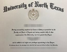 University of North Texas degree