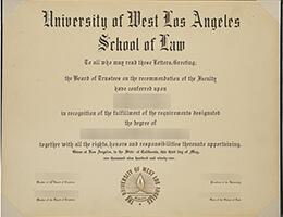 University of West Los Angeles school of Law degree