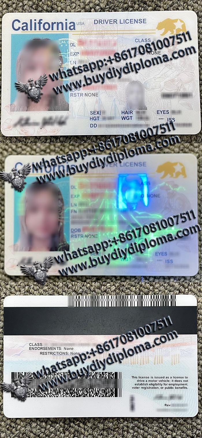 California scannable Driver license