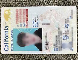 California Vertical Driver license