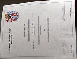 Canterbury Christ Church University (CCCU) certificate