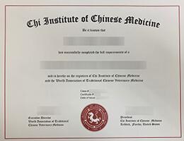 Chi institute of chinese medicine certificate