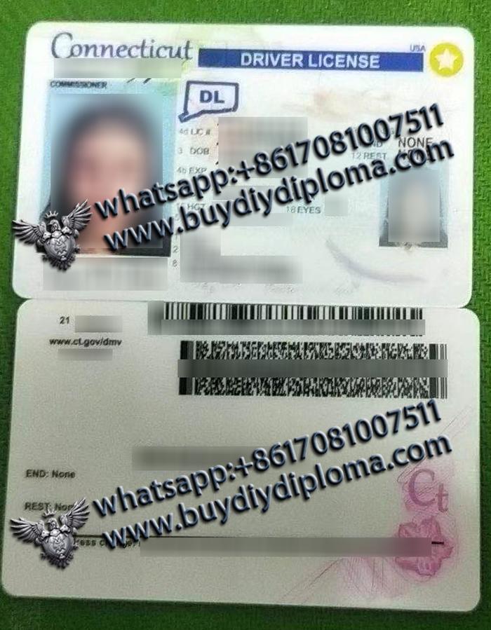 scannable Connecticut Driver License
