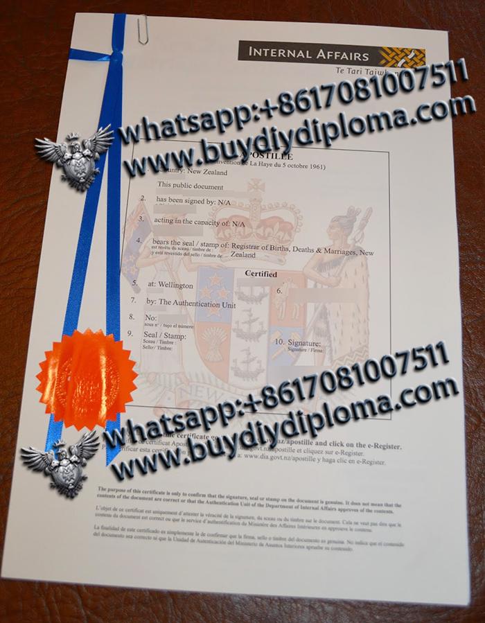New Zealand Diploma Apostille