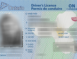 Ontario (ON) Scannable drivers license