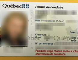 Quebec (QC) old Scannable Drivers License