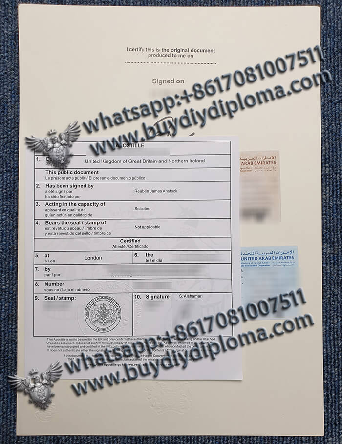 United Arab Emirates Diploma Apostille