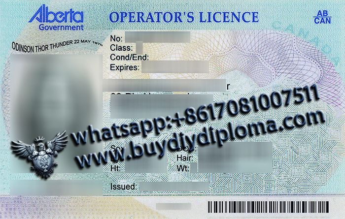 Alberta (AB) Scannable drivers license