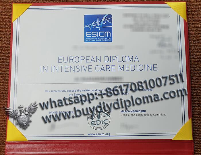 european society of intensive care medicine diploma