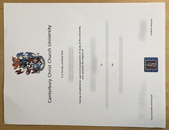 Canterbury Christ Church University certificate
