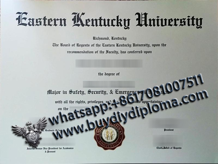 Eastern Kentucky University (EKU) degree