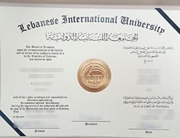 Lebanese International University (LIH) degree