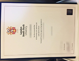 London South Bank University certificate