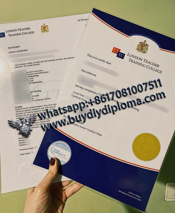 London Teacher Training College (LTTC) Certificate