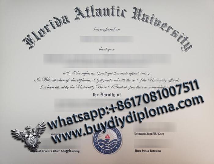 Florida Atlantic University degree