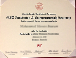 Massachusetts Institute of Technology (MIT) certificate