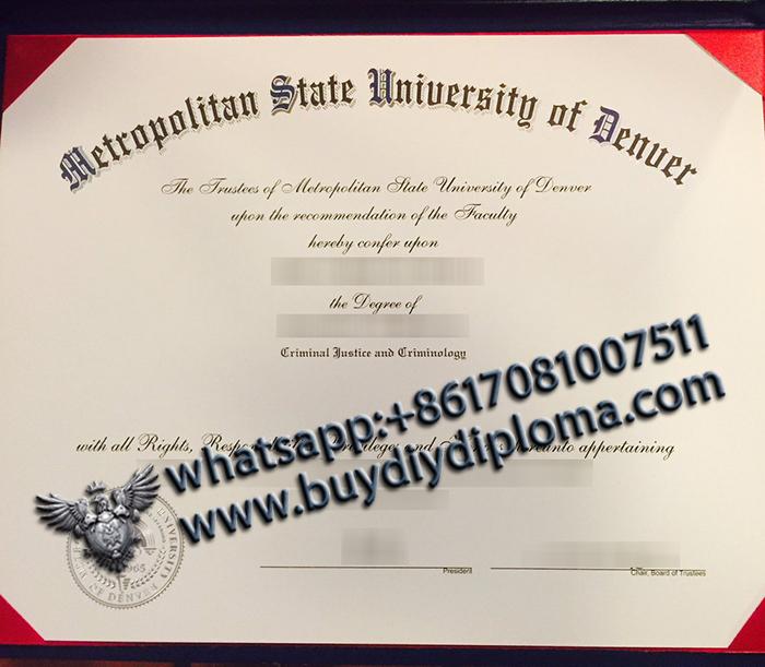 Metropolitan State University of Denver degree