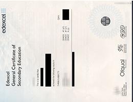 Pearson Edexcel GCSE certificate