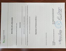 Technical University of Dortmund certificate