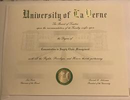 University of La Verne degree
