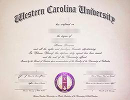 Western Carolina University degree